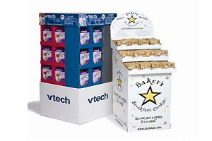 corrugated promotional displays, point of purchase, POP displays